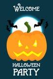 Halloweenowy pionowo plakatowy projekta szablon Fotografia Stock