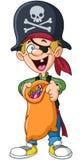 Halloweenowy pirata dzieciak Zdjęcia Royalty Free
