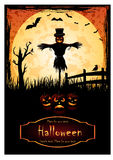 Halloweenowy plakat Obrazy Stock