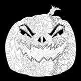 Halloweenowy plakat z cutted dyniowym Jack lampionem Obrazy Royalty Free