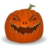 Halloweenowy plakat z cutted dyniowym Jack lampionem Zdjęcie Stock
