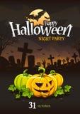 Halloweenowy Plakatowy projekt Zdjęcie Royalty Free