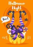 Halloweenowy plakatowy projekta szablon royalty ilustracja