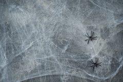Halloweenowy pojęcie, ciemnego tła stara ściana z pajęczynami, kartka z pozdrowieniami tło zdjęcia royalty free