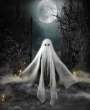 Halloweenowy pojęcie duch ilustracja wektor