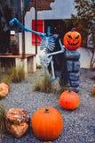 Halloweenowy pojęcie z banią zdjęcie stock