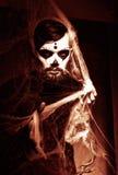Halloweenowy pojęcie z młodym człowiekiem Zdjęcia Stock