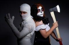 Halloweenowy pojęcie z mamusią Zdjęcia Stock