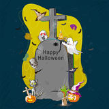 Halloweenowy powitania tło Obrazy Royalty Free