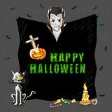 Halloweenowy powitania tło Obraz Royalty Free