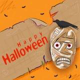 Halloweenowy powitania tło Zdjęcia Stock