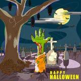 Halloweenowy powitania tło Obrazy Stock