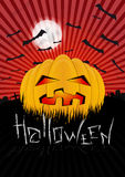 Halloweenowy projekta szablon Zdjęcia Stock