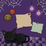 Halloweenowy projekta szablonu kartka z pozdrowieniami również zwrócić corel ilustracji wektora Obrazy Stock