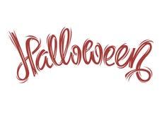 Halloweenowy ręki literowanie Zdjęcie Royalty Free