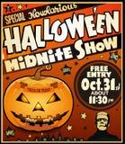 Halloweenowy rocznika plakat ilustracja wektor
