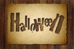 Halloweenowy rocznika tło Zdjęcie Royalty Free