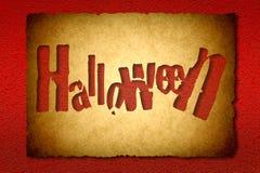 Halloweenowy rocznika tło Zdjęcie Stock