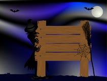 Halloweenowy signboard Zdjęcie Royalty Free
