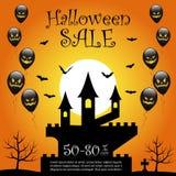 Halloweenowy sprzedaży tło Zdjęcie Stock