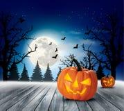 Halloweenowy Straszny Tło ilustracji