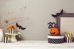Halloweenowy strona internetowa chodnikowa projekt z kopii przestrzenią Obraz Royalty Free