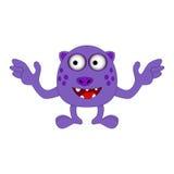 Halloweenowy szczęśliwy kreskówka potwór, śmieszna, śliczna charakteru wektoru ilustracja, Fotografia Royalty Free