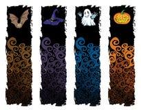 Halloweenowy sztandar ilustracja wektor
