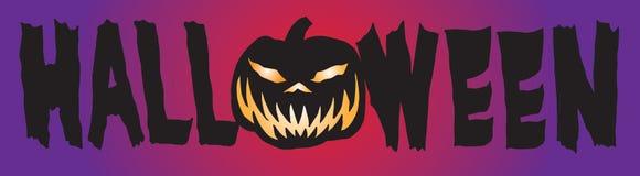 Halloweenowy sztandaru loga typ A ilustracja wektor
