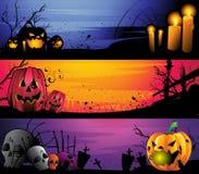 Halloweenowy sztandaru set Fotografia Royalty Free