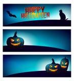 Halloweenowy sztandaru set Zdjęcie Stock