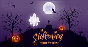 Halloweenowy tło, bania Kartka z pozdrowieniami dla przyjęcia i sprzedaży Jesień wakacje zdjęcie stock