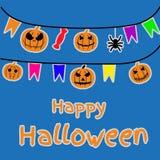 Halloweenowy tło, bania Kartka z pozdrowieniami dla przyjęcia i sprzedaży Jesień wakacje royalty ilustracja
