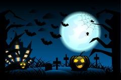 Halloweenowy tło jest dziki z ciemnym tłem behind jak Zdjęcia Stock