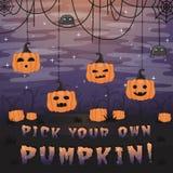 Halloweenowy tło skład dla zaproszenie karty Zdjęcie Stock