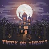Halloweenowy tło skład dla zaproszenie karty Obrazy Stock