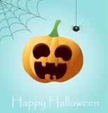 Halloweenowy tło z banią Fotografia Stock