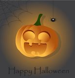 Halloweenowy tło z banią Zdjęcia Stock