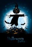 Halloweenowy tło z banią i strach na wróble Zdjęcie Royalty Free