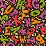Halloweenowy tło Z Kolorowymi listami Obrazy Royalty Free