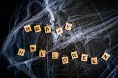Halloweenowy tło z pajęczynami zdjęcia royalty free