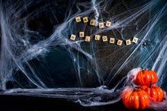 Halloweenowy tło z pajęczynami Fotografia Stock