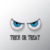 Halloweenowy tło z złymi oczami Fotografia Royalty Free