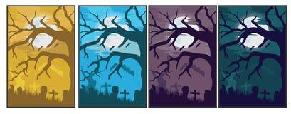 Halloweenowy tło set Obrazy Royalty Free