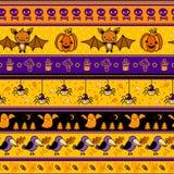 Halloweenowy tło z nietoperzem, bania, duch. Zdjęcie Stock