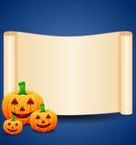 Halloweenowy tło z puste miejsce znakiem Zdjęcia Stock
