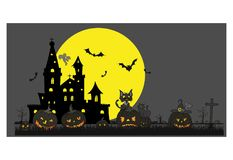 Halloweenowy temat straszny Zdjęcia Royalty Free