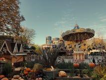 Halloweenowy Tivoli w Kopenhaga zdjęcie stock