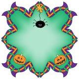 Halloweenowy tło z pająkiem i baniami Zdjęcie Stock