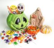 Halloweenowy Trikowy lub funda cukierek Obraz Royalty Free